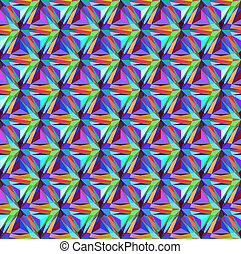 seamless background with geometric patterns of triangular...
