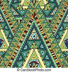 Seamless pattern with geometric elements. - Original drawing...