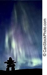 Inukshuk, norteño, luces