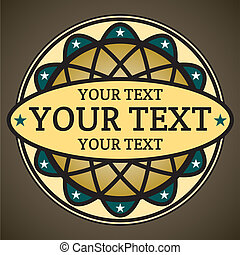 Decorative label with place for your text
