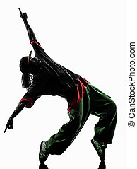 hip hop acrobatic break dancer breakdancing young man...