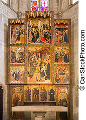 Altarpiece of Conestable - The altarpiece of the Constable,...
