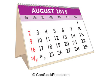August 2015 - August month in a year 2015 calendar in...