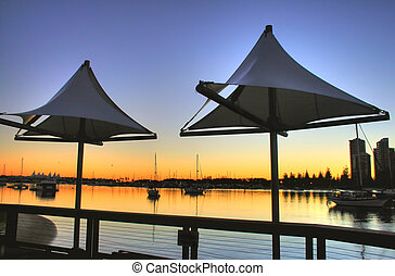 Shade Sails At Southport - Main Beach Gold Coast Australia...