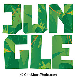 Jungle vegetation word
