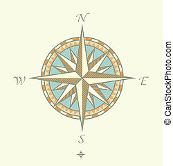 Compass Windrows - illustration of Compass Windrows. Great...