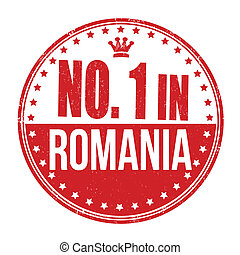 Number one in Romania stamp