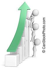 Growth. - The dude x 3 helping increase bar diagram. Green...