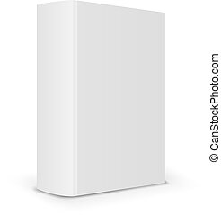 Blank book spine - Big blank book cover back Vector...