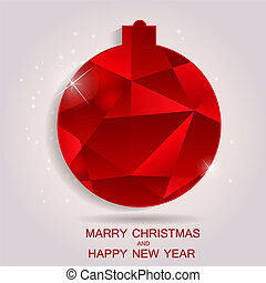 Happy New Year and Marry Christmas Background EPS10