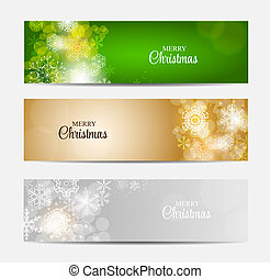 Christmas Snowflakes Website Header and Banner Set...