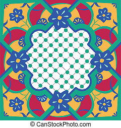 Floral Morroccan Inspired Tile - Seamless vector tile...