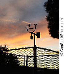 Weather Station - Weather vain with metrology phenomenon in...
