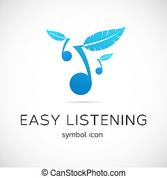 Easy Listening Music Vector Concept Symbol Icon Isolated