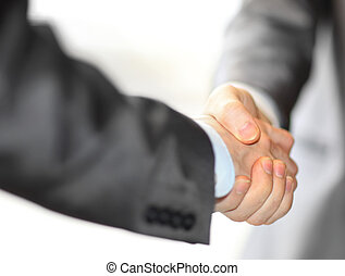 business hand shake - Closeup of a business hand shake...
