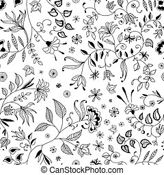 Flower Seamless Floral Pattern or Background Thin Nice and...