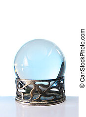 Crystal ball in stand