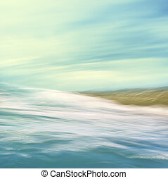 Flowing Sea Abstract - A seascape abstract with panning...