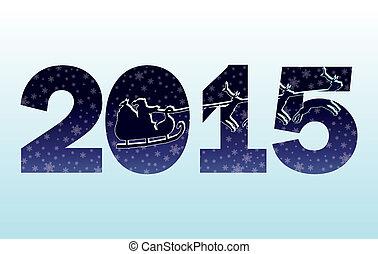 2015 Happy New Year invitation card