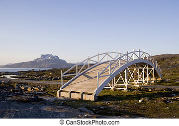 Bridge to nowhere - A bridge art piece in Nuuk, Greenland...