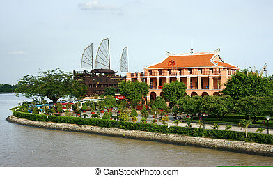 Nha Rong port - HO CHI MINH CITY, VIETNAM- AUG 10 :...