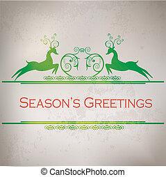 Seasons Greetings with deer