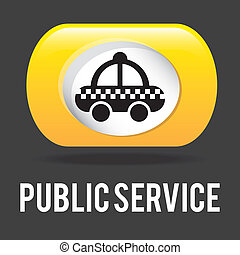 public service over black background vector illustration