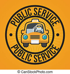 public service over orange background vector illustration