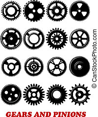 Gears and pinions set