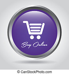 buy on line design over gray background vector illustration