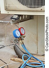 manometers for filling air conditioners - manometers on...