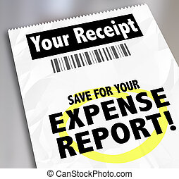 Your Receipt Save For Expense Report Payment Document - Your...