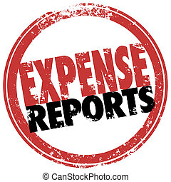 Expense Report Red Stamp Reimburse Business Costs - Expense...