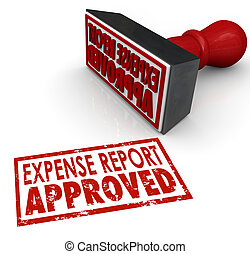Expense Report Approved Stamp Submit Enter Costs...
