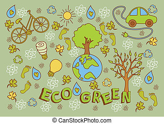 Eco Green Doodle
