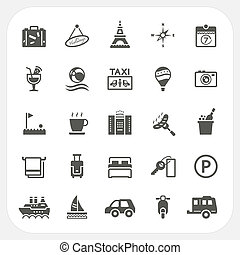 Travel and Hotel icons set