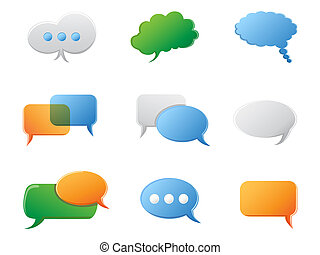 Chat Bubbles icon set