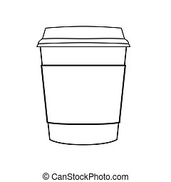 coffee cup vector - image of paper coffee cup vector isolate...