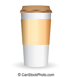 paper coffee long cup vector - image of paper coffee cup...