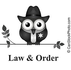 Law and Order USA - Law and order USA version isolated on...