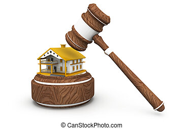 Gavel with house, Sale of a house