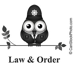 Law and Order UK - Law and order UK version isolated on...