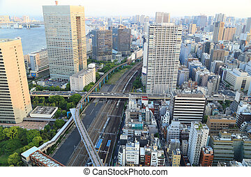 Tokyo cityscape, Japan - view of Tokyo cityscape, Japan