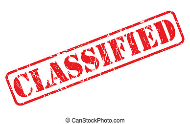 Classified red stamp text