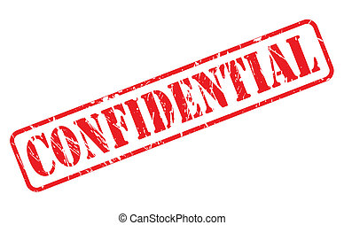 Confidential red stamp text
