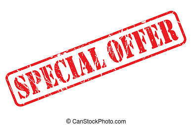 Special offer red stamp text