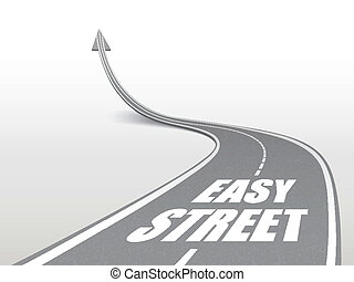 easy street words on highway road