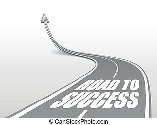 road to success words on highway road