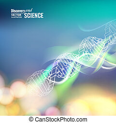 Science concept image. - Science concept image of DNA....