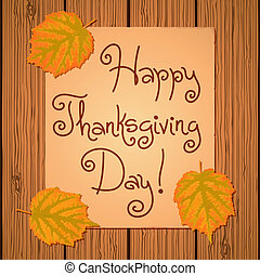 Happy Thanksgiving Background. Card for congratulation....
